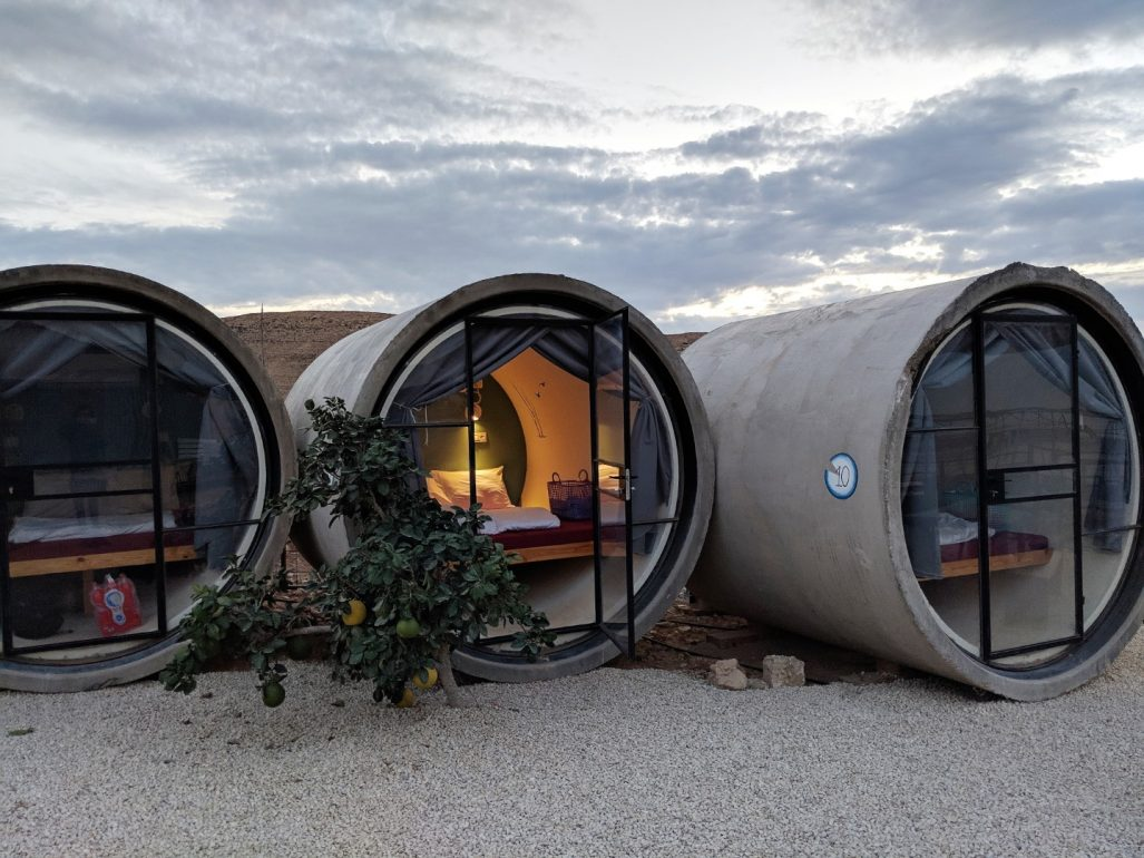 Capsule hotel in the desert