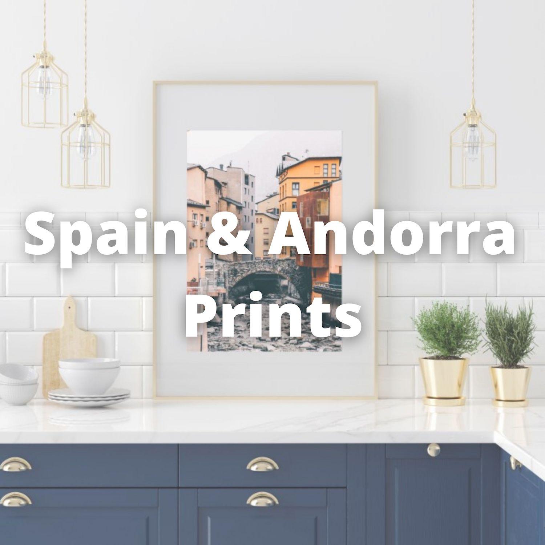 Andorra and Spain wall prints