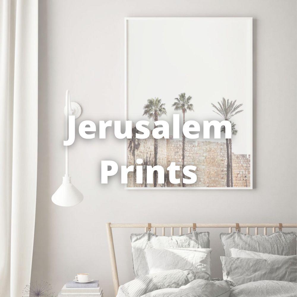 Jerusalem wall prints